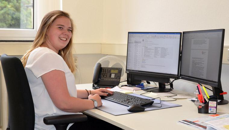 Azubi zur Kauffrau für Büromanagement Maria Bäumer