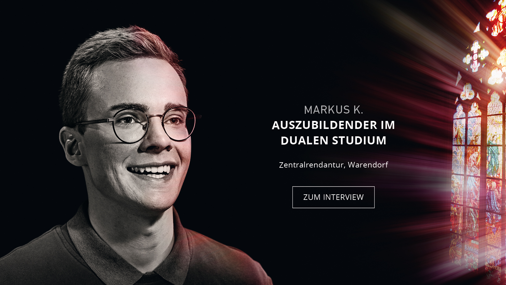 Auszubildender Markus Ketteler
