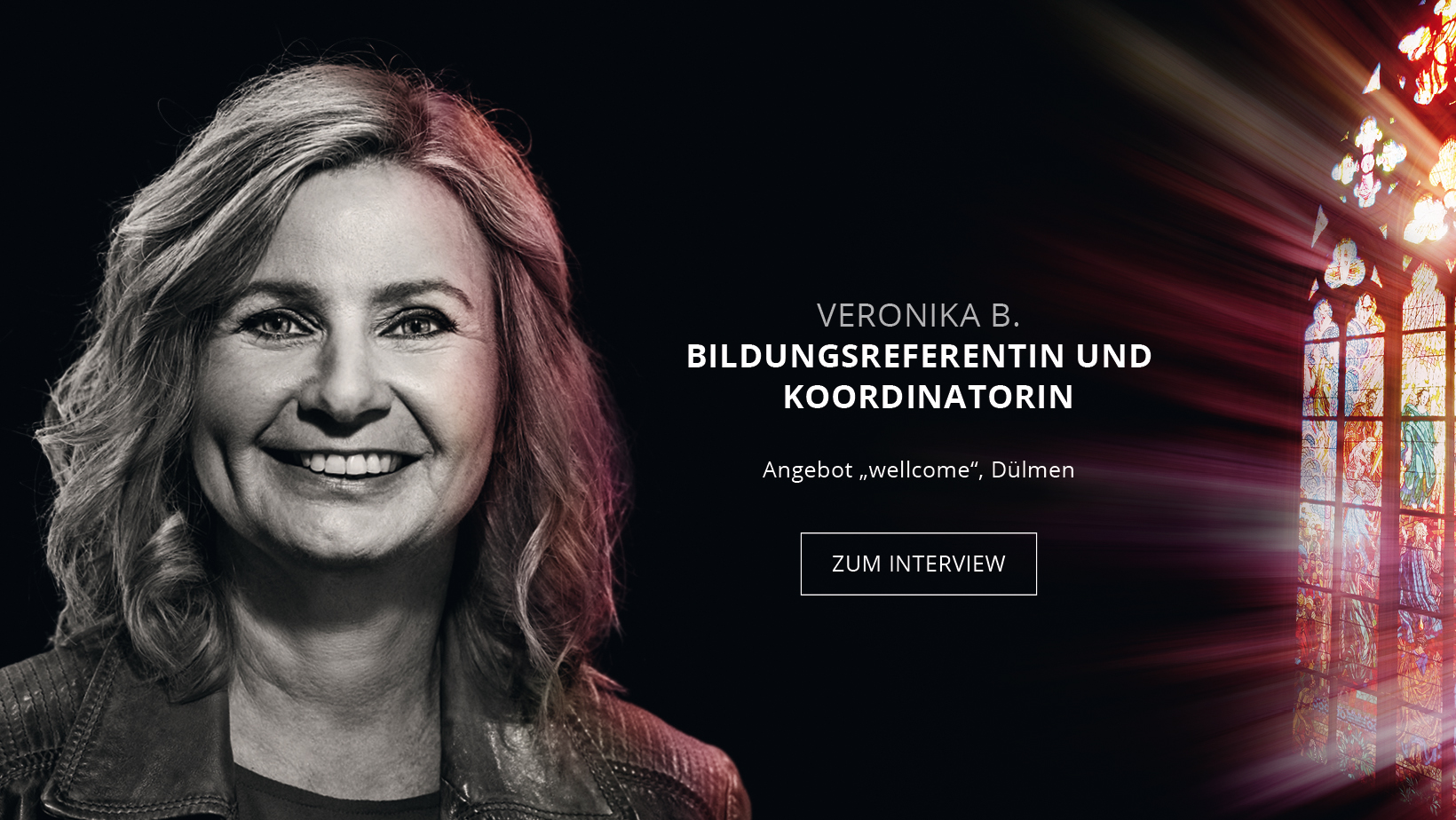 Bildungsreferentin und Koordinatorin Veronika Büscher