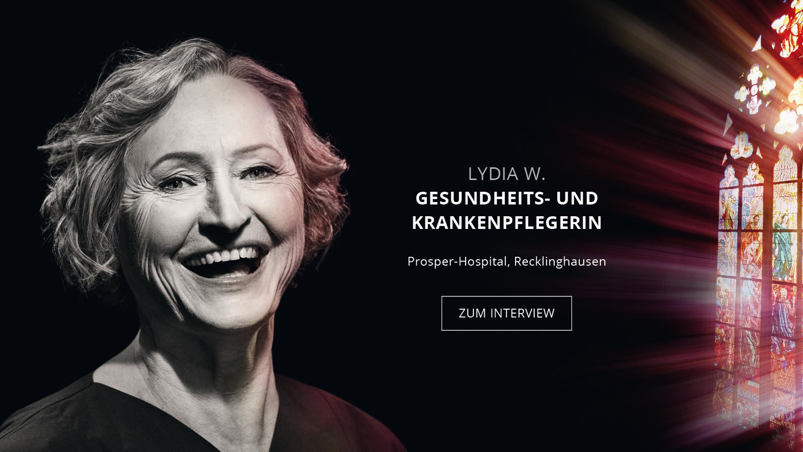 Krankenpflegerin Lydia Wolf