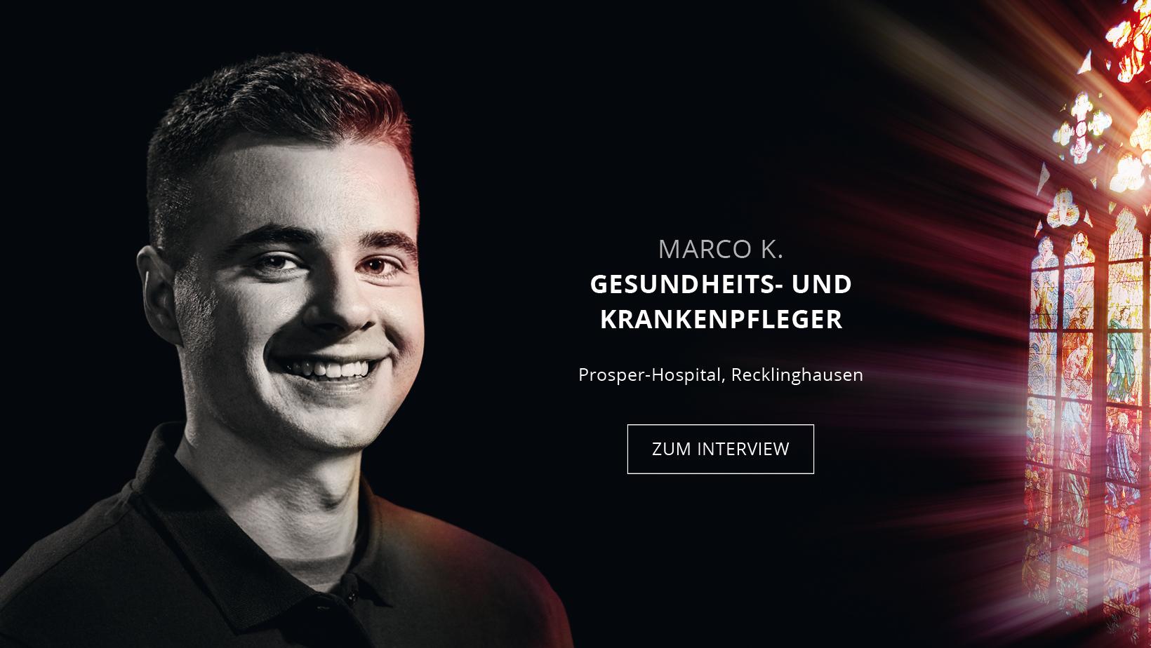 Auszubildender zum Gesundheits- und Krankenpfleger Marco Kulwicki