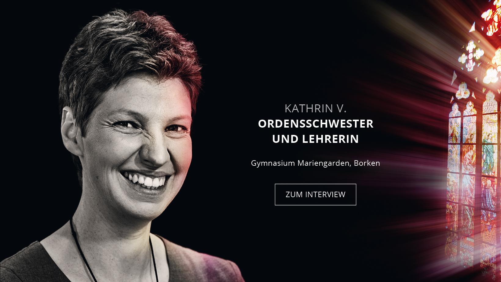 Ordensschwester und Lehrerin Kathrin Vogt